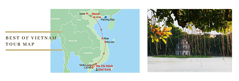 Best of Vietnam Tour map