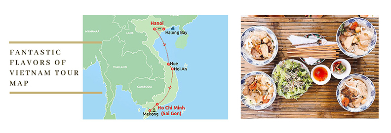 Cuisine Vietnam Tour Map