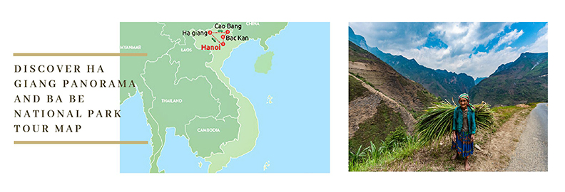 Northern Vietnam Tour Map