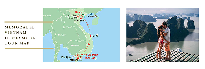 Vietnam Honeymoon Tour Map