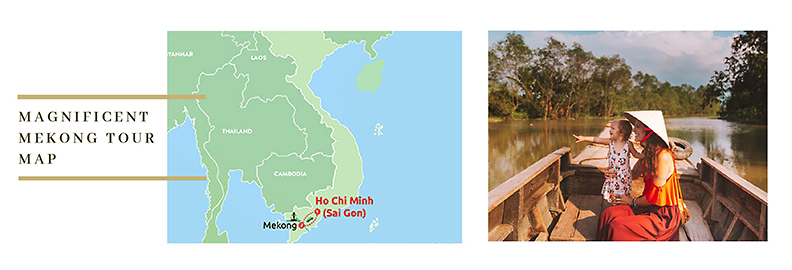 Vietnam Mekong Tour Map