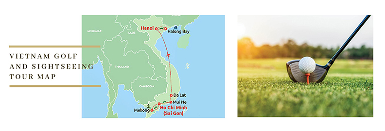 Vietnam Golf Tour Map