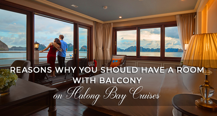 A room with balcony on Halong Bay Cruises