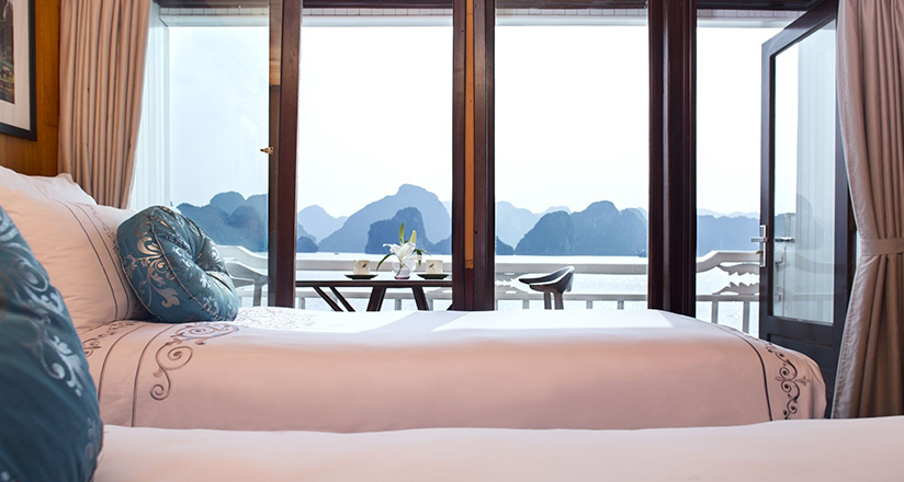 Airy rooms on Halong Bay Cruises