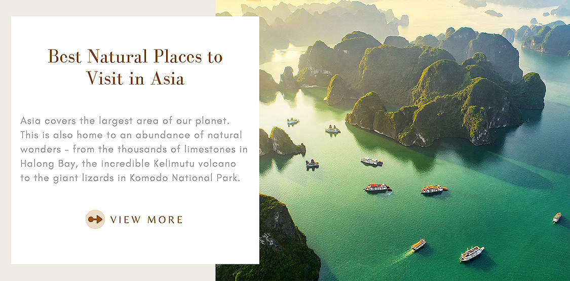 Natural places to visit in Asia