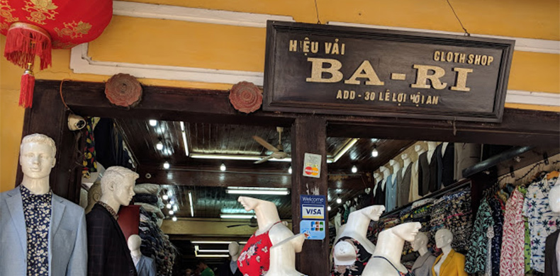 Best tailor shops in Hoi An - Ba Ri Tailor