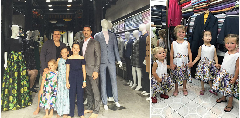 tailored clothes for family in Hoi An