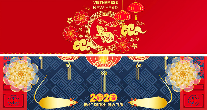 Vietnam and China Lunar New Year