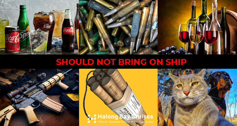 What should not bring on the ship