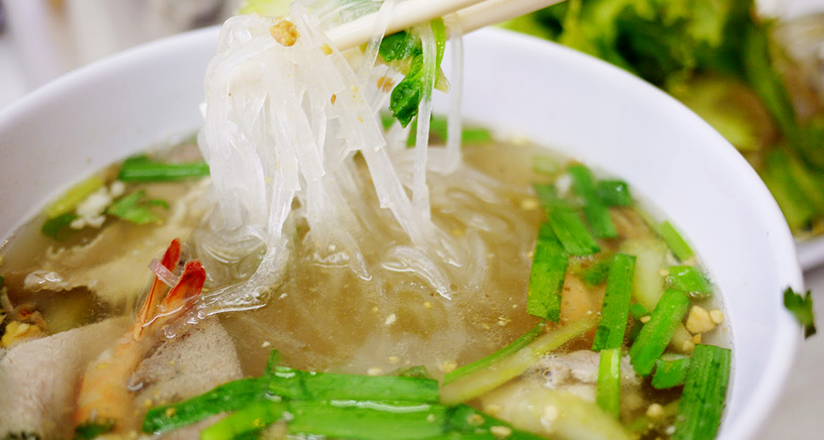 The noodles used for Hu Tieu My Tho