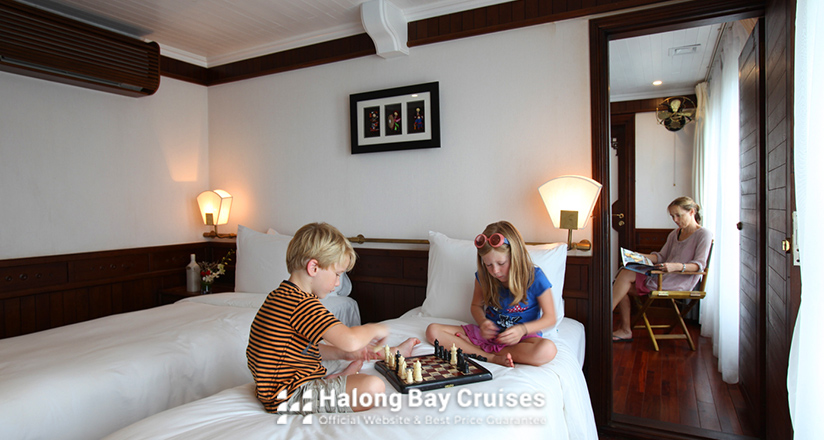 Family connecting rooms on Halong Bay Cruises